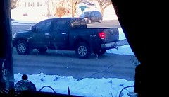 Another pickup truck - HTT 365/54 (Maenette1) Tags: pickuptruck blue window neighborhood menominee uppermichigan happytruckthursday flicker365 michiganfavorites project365