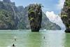 james bond Island (Greg Rohan) Tags: people boat boats swimmers swimming trees green sea ocean water limerock island jamesbondisland asia thailand d7200 2017 nikkor nikon tree mountain landscape sky
