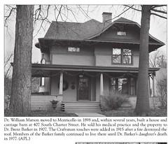 Dr. William Marson 1898 Home at 407 S. Charter c1935 (RLWisegarver) Tags: piatt county history monticello illinois usa il