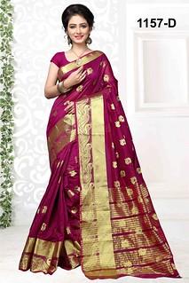 2655 Shree cotton silk saree with blouse