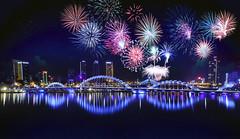 firework (Ảo Ảnh) Tags: firework pháo hoa new year 2018 đà nẵng sông hàn night black sky color