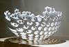 White Flower, side view - glazed porcelain piece by Yasuko Sakurai, 2008 - Explore! (Monceau) Tags: whiteflower ceramic yasukosakurai bowl macro glazedporcelain porcelain holes complex seethrough pattern shadow 3365 365the2018edition 3652018 day3365 03jan18 explore explored