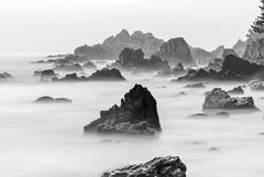 Scenery in Time (withcamera) Tags: eastsea janghobeach sea rockstone blackandwhitephotography longexposure gangwondo southkorea