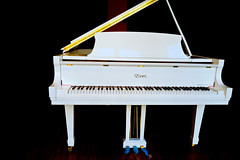White Essex (k4eyv) Tags: piano whitepiano sanfrancisco california displaywindow bluepedals leicaq