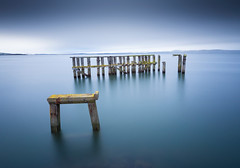 Lost at sea (Pete Rowbottom, Wigan, UK) Tags: edinburgh granton pier landscape seascape longexposure minimal rain clouds fife blue white ruins abandoned firthofforth sea ocean scotland scottish peterowbottom wooden oldpier grantonpier yellow light nikond750 outdoors water slowshutterspeed dramatic beautiful fineart longexposurelandscape rainstorm weather scottishlandscape coast coastline lostatsea moss rust smoothwater serene tranquil britishcoastline art lothian geotagged