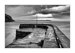 STORMY CHARLESTOWN (Barry Haines) Tags: flickrsbest sony a7r2 a7rii voigtlander 40mm f12 nokton bw monochrome stormy charlestown harbour sea sky