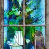 flower window II (j.p.yef) Tags: peterfey jpyef yef flower flowerpot window photomanipulation digitalart square