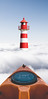 Floating on the Clouds (Lightcrafter Artistry) Tags: kayak clouds lighthouse photoshop art