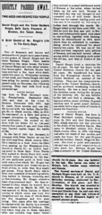 1893 - Daniel Ringle and sister obit - Enquirer - 22 Dec 1893