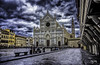 Santa Croce (nicolamariamietta) Tags: florence santacroce church religion square people perspective art buildings architecture clouds cloudy city cityscape medieval daytime light sonya7 28mm canonfd
