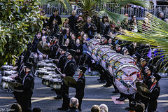 Drums (Thad Zajdowicz) Tags: zajdowicz pasadena california roseparade 2018 usa outdoor outside canon eos 5dmarkiii 5d3 digital dslr color colour festive availablelight lightroom ef70200mmf4lisusm band music people drums street road highschool marchingband