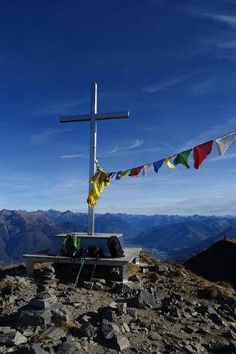 Gipfelkreuz auf dem Monte Tamaro