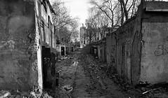 breath decay (rafasmm) Tags: lodz łódź poland polska europe city citycenter backyard coral cell revitalization bw blackwhite monochrome dark side town outdoor decay old nikon d90 sigma 1020 ex