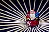 "I'm Sticking With Santa - Macro Monday - ""Sticks"" (not beck) Tags: macromonday macro monday stick santa christmas array skewers wood tree beard ornament geometricpattern"