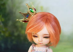 Shiro Crown (Sparrow ♪) Tags: pukifee lati yellow tiny bjd crown custom commission gold jewels no game life shiro