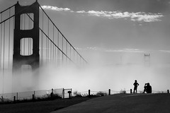 *** (Misha Sokolnikov) Tags: sf sanfrancisco ca california goldengate goldengatebridge bridge fog kid sky blackandwhite noiretblanc blancoynegro monochrome leica leicamonochrom leicamm 50mm aposummicron city