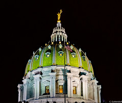Harrisburg Capitol Dome (charlie_guttendorf) Tags: guttendorf hdr harrisburg nikon nikon18200mm nikond7000 pennsylvania uncoveringpa centralpa dome night nightphotography outdoors