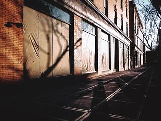 Light and evening shadows