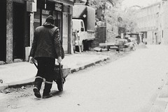 #street #worker #walking #for #future #life (hakanÇuhan) Tags: monochrome future canon bnw life bwsociety walking street 50mm istanbul canon650d for bw worker