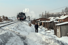 Brrrrrrrrrrrrrr! (Kingmoor Klickr) Tags: hutongs chengzihe china heilongjiang province snow steam industrial railway sy 1058 jixi minigbureau