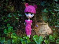 (Linayum) Tags: pullip pullipdita pullips pullipdoll doll dolls junplanning crochet ganchillo handmade garden green pink muñeca muñecas