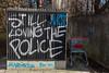 Loving The Police (orkomedix) Tags: munich germany canon 6d graffiti police loving spray 50mm outdoor street