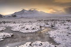 Winter sunset (SkyeBaggie) Tags: cuillin skye scotland isleofskyescotland hebrides mountain sunset sligachan snow