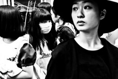 Harajuku Faces...... (Victor Borst) Tags: street streetlife streetphotography reallife real realpeople asia asian asians faces face candid travel travelling trip traffic traveling urban urbanroots urbanjungle blackandwhite bw mono monotone monochrome mankind ladies girls women woman lady girl fashion fashionable style harajuka tokyo japan japanese people portrait streetportrait