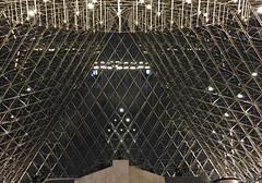 2017 Paris: Inside the The Louvre Pyramid at Night #2 (dominotic) Tags: 2017 muséedulouvre insidethethelouvrepyramidatnight muséedulouvrebynight artgallery history museum grandlouvre antiquities architecture archaeology thelouvrepyramid pyramidedulouvre glasspyramid iphone6 paris france europe