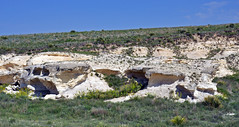 Chalk badlands (Niobrara Formation, Upper Cretaceous; outcrop along Castle Rock Road, Gove County, Kansas, USA) 7 (James St. John) Tags: smoky hills chalk member niobrara formation cretaceous gove county kansas castle rock road chalks