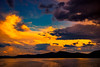 The Forgotten Sunset (Nicholas Erwin) Tags: landscape sunset bluehour sky clouds mountain water lake lakechamplain nature naturephotography contrast colorful scenic outside outdoors nikon d60 nikkor 1855vr burlington vermont vt unitedstatesofamerica usa fav10 silhouette fav25 fav50