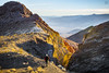 Kaleidoscope Canyon at Sunset (lycheng99) Tags: kaleidoscope kaleidoscopecanyon canyon mountains sunset deathvalley deathvalleynationalpark nature nationalpark nationalgeographic landscape people sun peak valley hiking hiker trail rockformation rockclimb grass weed