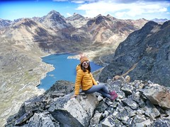 Lagunas las cuatro purísimas (pattyesqga) Tags: trekking hiking nature naturaleza perú southamerica sudamérica naturelover trekk trekkeros lagoon view sightseeing snow mountains happy