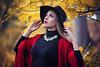 Ania López (Pablo Cañas) Tags: anialópez model modeling modelingfashion modelo retrato portrait portraiture autumn otoño hat black red pose posing posado collar rojoynegro vitoria gasteiz
