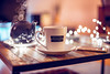 cozy last saturday of 2017 (thethomsn) Tags: cozy last saturday 2017 cup tea coffee bokeh fairylights livingroom coffeetable winter home thethomsn 6dii mobilephone dof explore