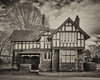 East Lodge (Charliebubbles) Tags: olympusem10markiii olympus1442mmez cheshire crewe queenspark nikcollection silverefexpro2 fulldynamicsmooth antiqueplate1 architecture hdr mono 2017 unitedkingdom