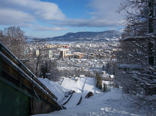 Ski Jumping Ramp K90 above the town of Frenštát.