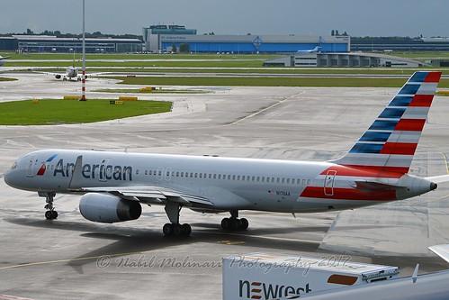 """American Airlines N176AA Boeing 757-223 Winglets cn/32395-994 """"5FL"""" @ EHAM / AMS 09-09-2017"""