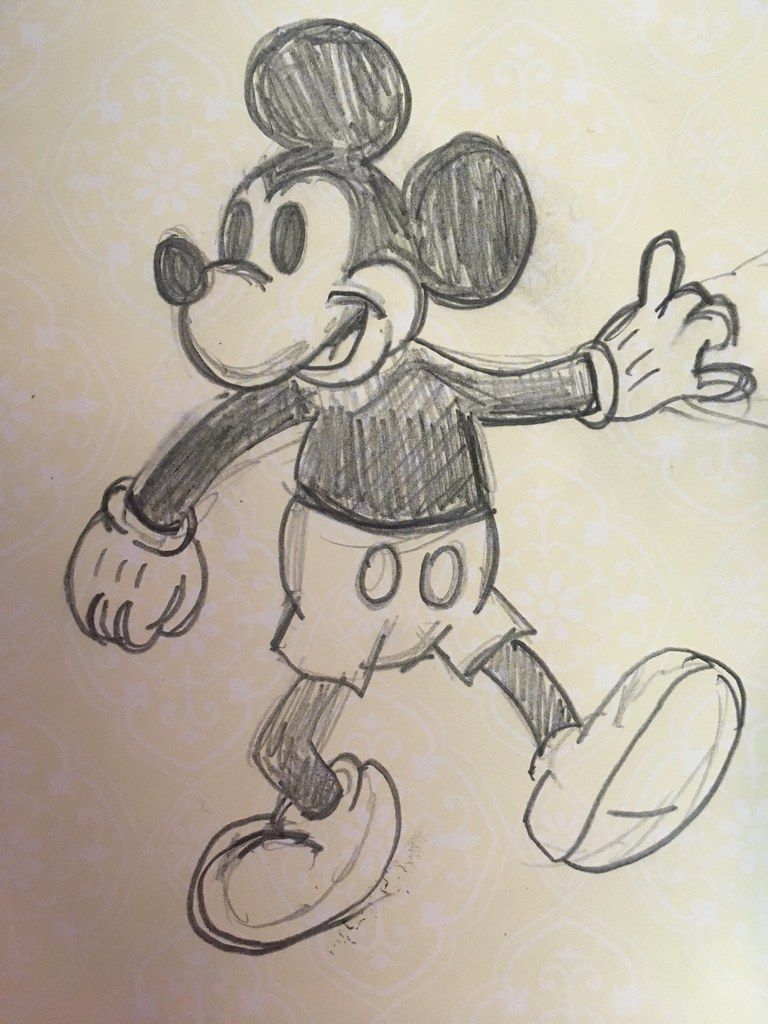 Mickey mouse timp37 tags mickey mouse sketch drawing disney