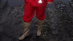 PB120163 (Axelweb) Tags: chubby bbw girl lady female rainwear raincoat pvc shiny wellies rubber boots gas mask plastenky holinky rainsuit rain suit plastic wellington gumboots galoshes gummi gasmask gloves