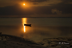 Sunset at the Mombasa (Ali Yamaner) Tags: sunset sea ocean indian mombasa kenya africa nature fisherman boat outdoor dianabeach