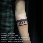 Armband with Lettering Tattoo