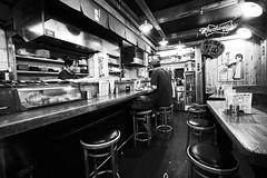 Quiet pub in Osaka (petrwag) Tags: sony a6500 sel1018z street bw blackandwhite blancoynegro blackwhite noiretblanc noirblanc nihon nippon osaka japan japón japon