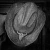 Hide Hat (arbyreed) Tags: arbyreed had rawhidehat cowboyhat bar sanjuancountyutah mexicanhatutah squareformat monochrome bw blackandwhite
