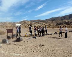 009 Start At The Red Cliffs Trailhead (saschmitz_earthlink_net) Tags: 2017 california orienteering redrockcanyon statepark laoc losangelesorienteeringclub mojavedesert desert kerncounty elpasorange