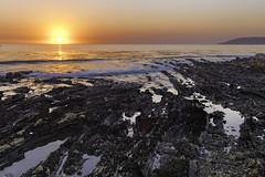 Shell Beach Sunset (punahou77) Tags: shellbeach pismobeach pismo california color stevejordan sky sunset punahou77 pacificocean beach water waves reflection nature nikond500 night tidepools sun seascape