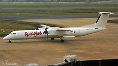Spicejet Airlines (vomm_aviationpictures) Tags: planespotting plane photography planes photo pilots spotting shot sky spicejet sg airplane airport aircraft airways aviation aerodrome airlines airline q400 canon canon1200d chennai closeup cockpit city climate apron ramp airside