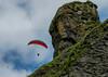 Two ways to fly (einisson) Tags: flying birds hangglider rocks man sky suðurland reynisfjara reynisfjall iceland ísland outdoor nature landscape einisson canon70d