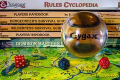 Gygax (vZwicky) Tags: dailyindecember2017 smctakumar50mmf4macro crystalball palantir dungeonsdragons garygygax roleplayinggames dice maps fantasy 1980s magnolia mississippi unitedstates us