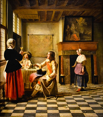 Pieter de Hooch - Woman Drinking with Two Men, 1658 (The National Gallery London England) at Vermeer and the Masters Exhibit at National Gallery of Art - Washington DC (mbell1975) Tags: washington districtofcolumbia unitedstates us pieter de hooch woman drinking with two men 1658 the national gallery london england vermeer masters exhibit art dc nga museum museo musée musee muzeum museu musum müze museet finearts fine arts gallerie beauxarts beaux galleria painting dutch flemish golden age grand